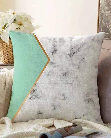 Obliečka na vankúš s prímesou bavlny Minimalist Cushion Covers Marble, 55 x 55 cm