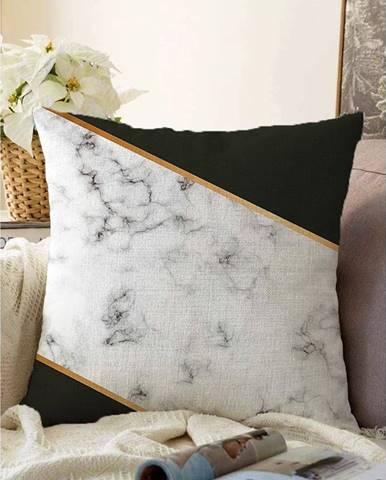 Obliečka na vankúš s prímesou bavlny Minimalist Cushion Covers Shadowy Marble, 55 x 55 cm