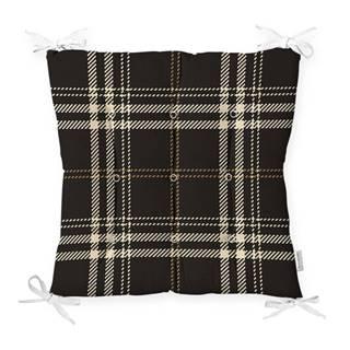 Sedák na stoličku Minimalist Cushion Covers Flannel Black, 40 x 40 cm