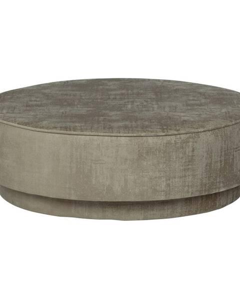 vtwonen Svetlohnedý zamatový puf vtwonen Pearl, ø 80 cm