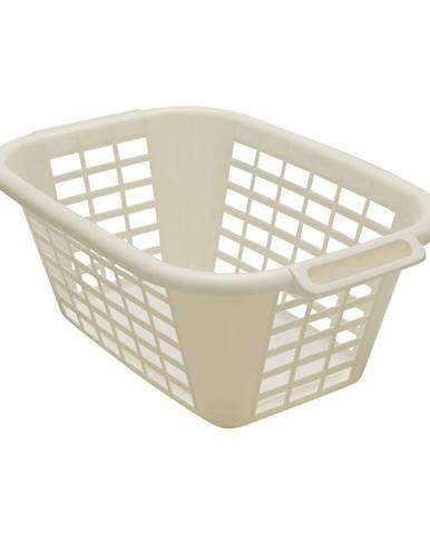 Krémový kôš na bielizeň Addis Rect Laundry Basket, 40 l