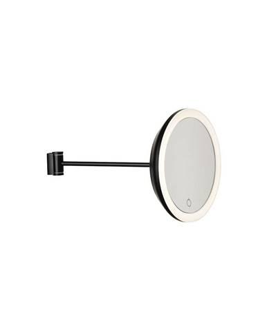 Čierne nástenné kozmetické zrkadlo Zone Eve, ø 17,5 cm