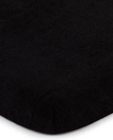 4home froté prestieradlo čierna, 90 x 200 cm