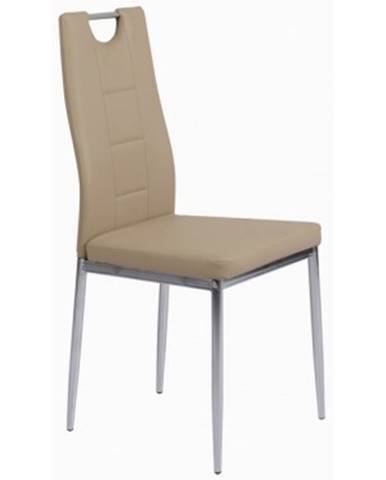 Jedálenská stolička Melania, béžová ekokoža%