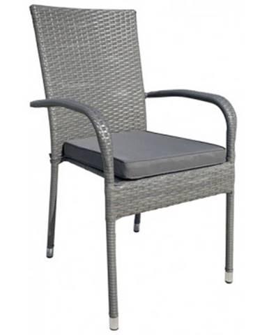 Záhradná stolička Jakarta, šedo-hnedá%
