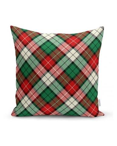 Zeleno-červená dekoratívna obliečka na vankúš Minimalist Cushion Covers Flannel, 35 x 55 cm