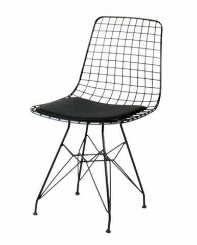 Jedálenská stolička TEKLI čierna