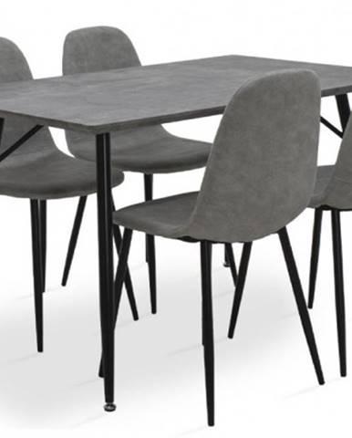 Jedálenský set Cedric - 4x stolička, 1x stôl