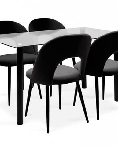 Jedálenský set Janet - 4x stolička, 1x stôl