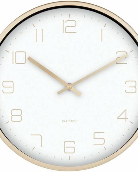 Karlsson Karlsson 5720WH dizajnové nástenné hodiny, pr. 30 cm