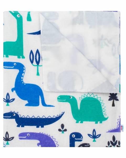 Spaas New Baby Nepremokavá flanelová podložka Dinosaurus, 57 x 47 cm