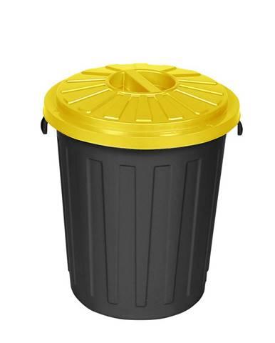 Plastový odpadkový kôš Mattis 45 l, žltá