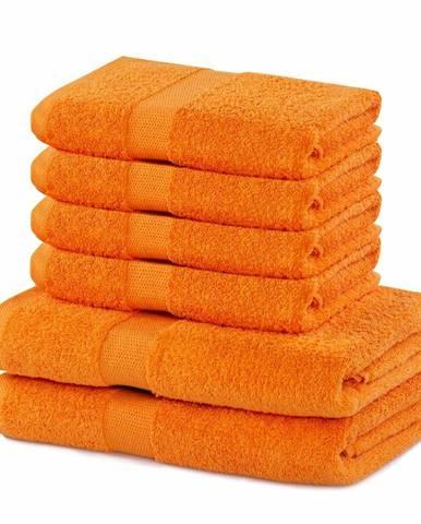 DecoKing Sada uterákov a osušiek Marina oranžová, 4 ks 50 x 100 cm, 2 ks 70 x 140 cm