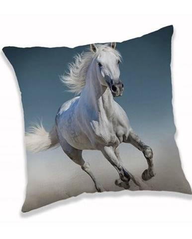 Jerry Fabrics Vankúšik White horse, 40 x 40 cm