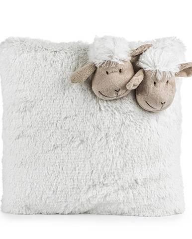 BO-MA Trading Vankúšik Ovečka biela, 35 x 35 cm