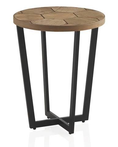 Odkladací stolík s čiernou železnou konštrukciou Geese Honeycomb
