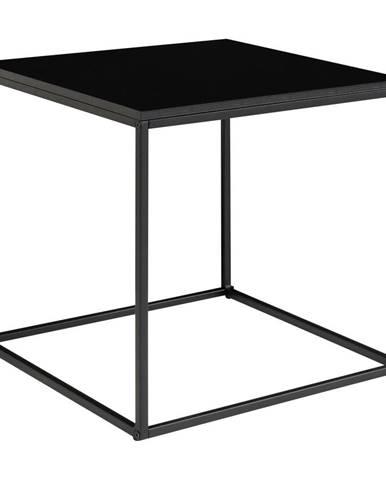 Čierny odkladací stolík HoNordic Vita, 45 x 45 cm