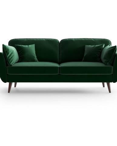 Zelená zamatová pohovka My Pop Design Auteuil