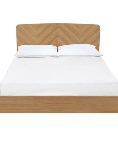 Dvojlôžková posteľ Woodman Farsta Herringbone, 180×200 cm