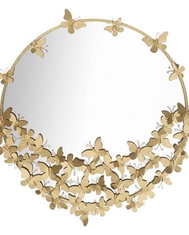 Nástenné zrkadlo v zlatej farbe Mauro Ferretti Round New, ø 91 cm