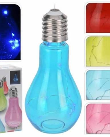 Lampa žiarovka 9x19cm, mix farieb