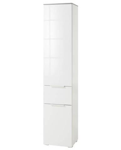 Kúpeľňová skriňa GAVERA biela/betón