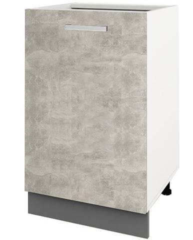 Skrinka do kuchyne Charlotte 40lc Grey Graphite/Light Atelier