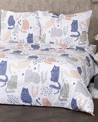 4Home Bavlnené obliečky Nordic Cats, 140 x 200 cm, 70 x 90 cm
