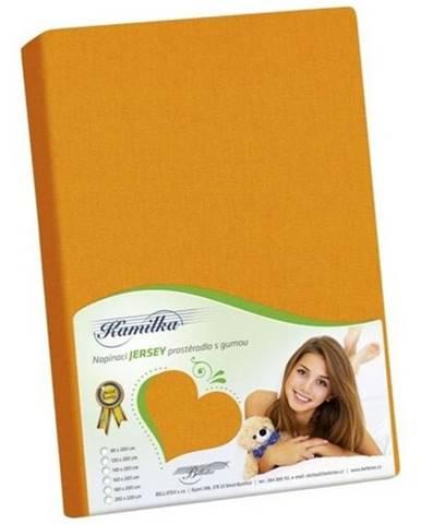 Bellatex jersey prestieradlo Kamilka oranžová, 90 x 200 cm