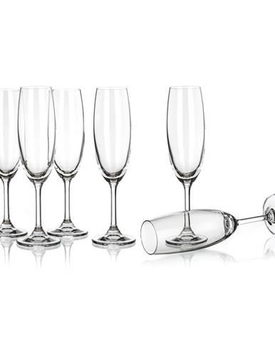 Banquet Crystal Leona flauta poháre na šampanské 210ml, 6ks