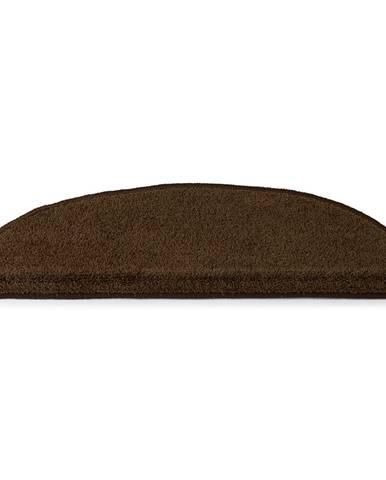 Kobercové nášľapy na schody Eton 24 x 65 cm - farba hnedá