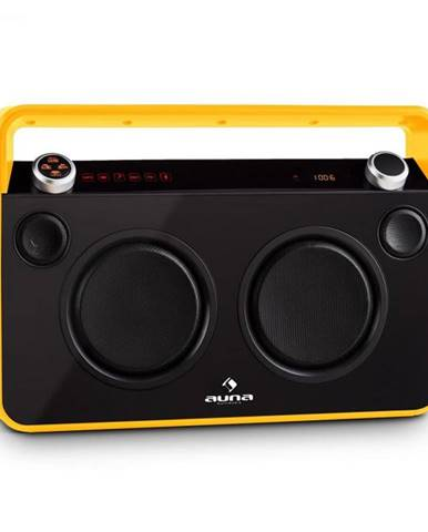 Auna Bebop Ghettoblaster, žltý, USB bluetooth AUX MIC