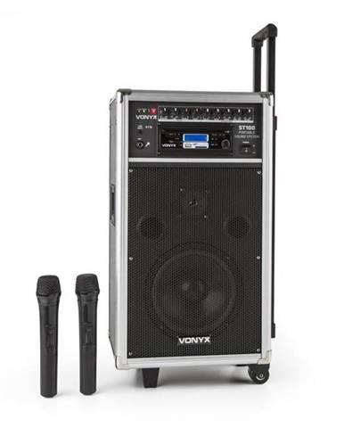 Vonyx ST-100 MK2, prenosný PA audio systém, bluetooth, CD, USB, SD, MP3, akumulátor, UKV