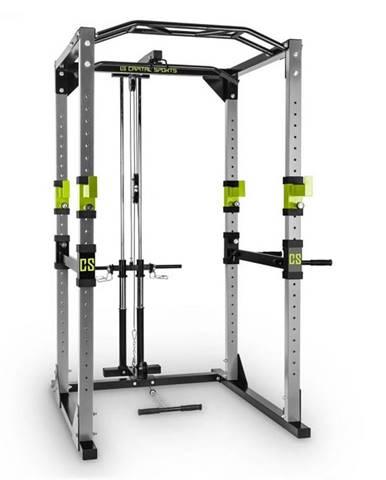 Capital Sports Tremendour Pl Power Rack, zelený, domáca posilňovňa, kladka, oceľ