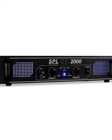 HiFi PA zosilňovač Skytec SPL 2000 EQ, 48 cm, s LED svetelný