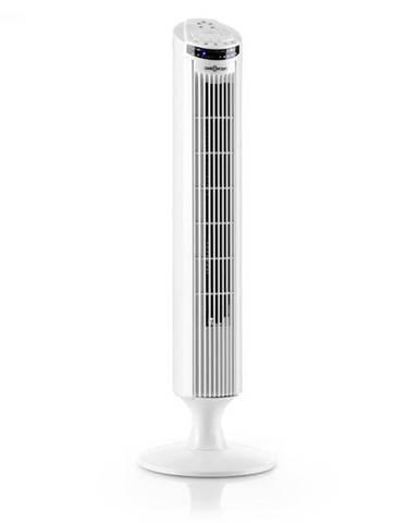OneConcept Blitzeis, stĺpový ventilátor, 50 W, 45° oscilácia, biely