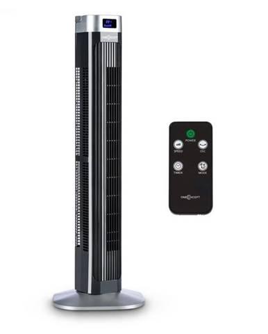 OneConcept Hightower 2G, stĺpový ventilátor, časovač, 50 W, čierny