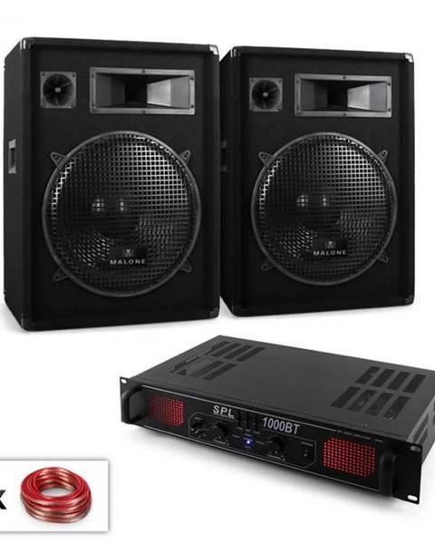 "Electronic-Star Electronic-Star DJ PA sada ""Malone Bluetooth SPL"", pár 15"" (38 cm) reproduktor & zosilňovač 1000 W"