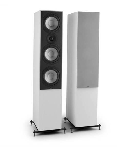 Numan Numan Reference 801c,trojcestný stojaci reproduktor, pár, biela farba, vrátane strieborných krytov