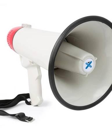 Vexus MEG045, megafón, 40 W, funkcia nahrávania, siréna, USB, SD, AUX, prevádzka na batérie, popruh