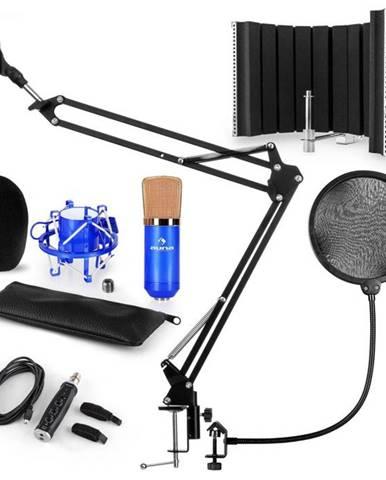 Auna CM001BG mikrofónová sada V5, kondenzátorový mikrofón, USB-adaptér, mikrofónové rameno,pop filter, panel