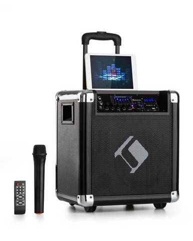 "Auna Moving 80, PA systém, 8"" woofer, 35 / 100 W max. , VHF mikrofón, USB, SD, BT, AUX, prenosný"