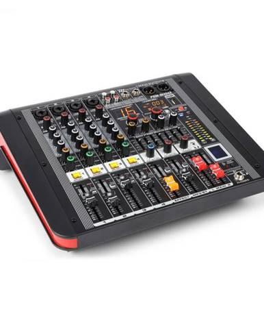 Power Dynamics PDM-M404A, mixážny pult, 4 mikrofónové vstupy, 24-bit multi-FX-procesor , USB prehrávač