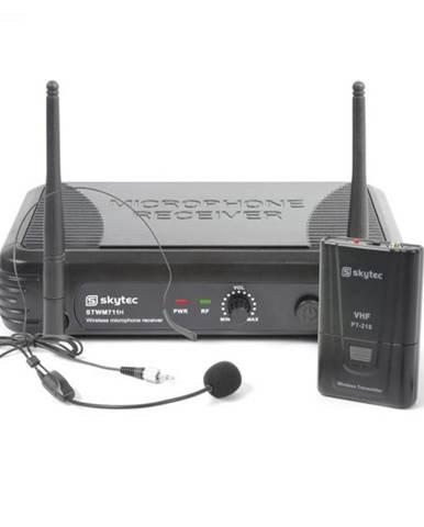 Skytec STWM711H Mikro Headset VHF technika, vysielač, prijímač a headset, čierna farba