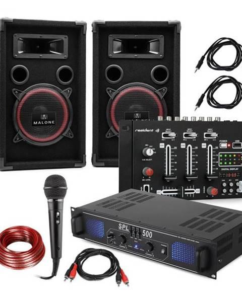 Electronic-Star Electronic-Star DJ-14 BT, DJ PA set, PA zosilňovač, BT mixážny pult, 2 x reproduktor, karaoke mikrofón