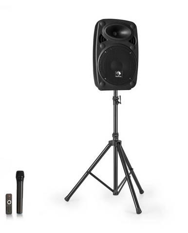 """Auna Streetstar 8, mobilný PA systém + statív, 8"""" woofer, UHF mikrofón, 200 W, čierny"""