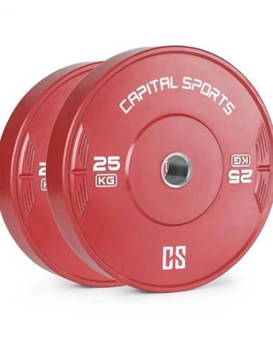 Capital Sports Nipton 25, kotúč, závažie, 2 x 25 kg, tvrdená guma, červený