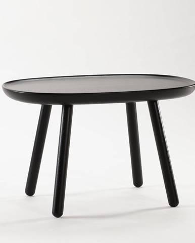 Čierny stolík z masívu EMKO Naïve, 61 x 41 cm