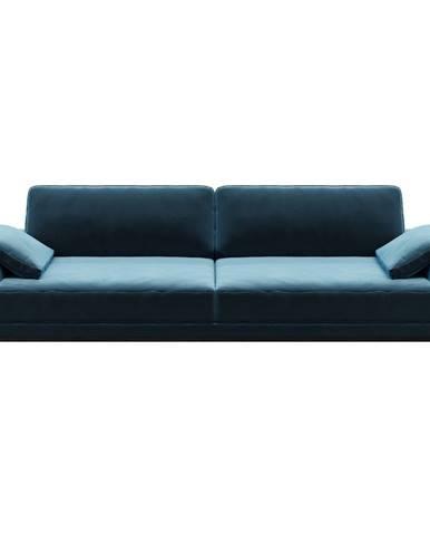 Modrá zamatová pohovka MESONICA Musso, 211 cm