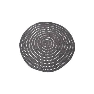 Tmavosivý kruhový bavlnený koberec LABEL51 Knitted, ⌀ 150 cm